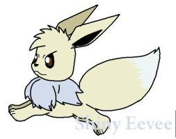 Shiny Eevee by JackAssDrawer