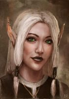 elf girl portrait by Shade-of-Nekura