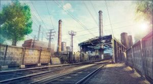 Industrial area concept-art 02 by Pa-Go