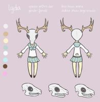 OC - Lydia Reference Sheet by angelarcanine