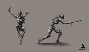 Droid Concept Sketches by Robjenx