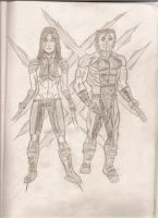 X-23 and Wolverine by XerafCZ