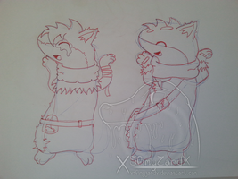Aaron+Vortex Caramelldansen (Traditional WIP) by XSlimyZardX
