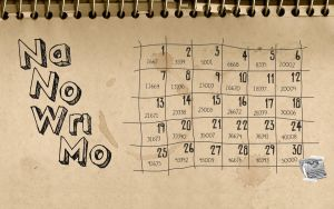 NaNoWriMo Notebook Wallpaper by stefania-zee