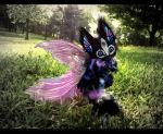 --SOLD-- Poseable Winged Baby Glass Dragon! by Wood-Splitter-Lee