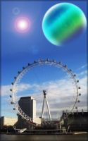Planet over London by Pokehkins