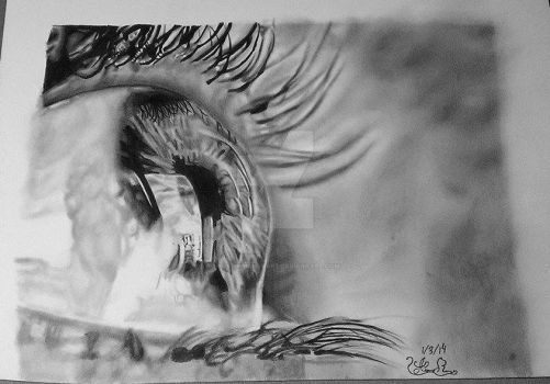 Eye Drawing from two years ago by AustinRicheyArt