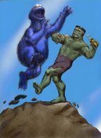TLIID Muppet mash-up Cookie Monster v Hulk by Nick-Perks