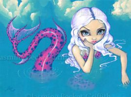 Pink Spotted Mermaid by jasminetoad