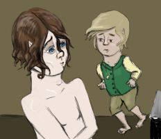 Sam and Frodo in the tower by ShrunkenJedi