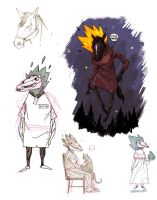 horse-headed witch sketches by marklaszlo666