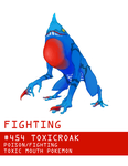 Pokemon Type Challenge #5 Toxicroak by Gnin