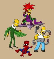 Spider Simpsons Colored by greyfoxdie85
