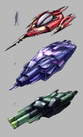 Spaceships Concepts by Leadpanda
