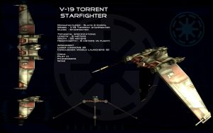 V-19 Torrent starfighter ortho by unusualsuspex