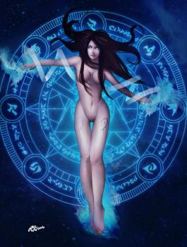 Celestials: Maiden of Wisdom by MilkCognac