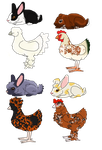 easter bunny and chicken adopts by J4-Coltrain