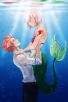 Nali (Little Mermaid) Fairy Tail x Disney by SunHee2244
