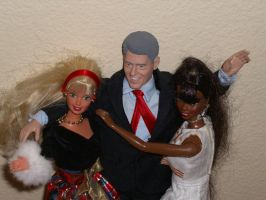 Bill Clinton and his ho's by Adella