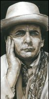 Sylvester McCoy-Signed Artwork by caldwellart