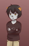 Grumpy Karkat by Delpha