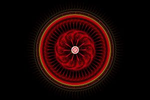 Fractal mandala of Root Chakra by Xenodreaming