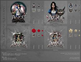 Alice: Madness Returns, Dock Icons by VikingWasDead