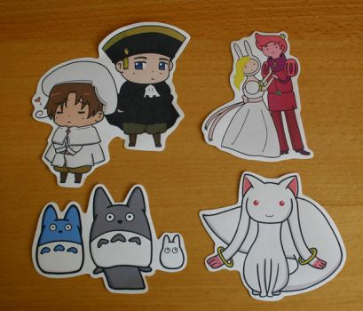 Anime/Cartoon Characters Sticker Set by ThePockyGirl