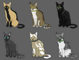 Warrior Cats Adopts 2 OPEN by AdoptableSky