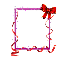 red frame with ribbons and baw png by Melissa-tm