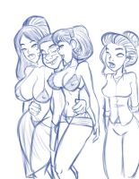 Wang greets the women by JABcomix
