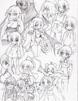 Characters Doodles by OverlordZeon