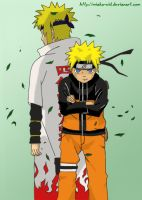 Naruto and Yondaime Color by MiaKa-CiD