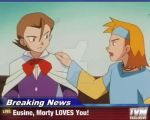 Breaking News-Morty LOVES Eusine!!! by Rose3212