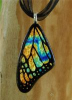 Gold Mix Glass Butterfly Wing by FusedElegance