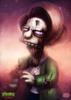 Zombie Simpsons: Mrs Krabapple by danosborne