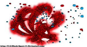 Naruto 4th tailed beast mode by Evil-Black-Sparx-77