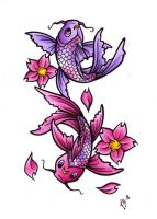 Koi Tattoo Design - Coloured by BlueUndine
