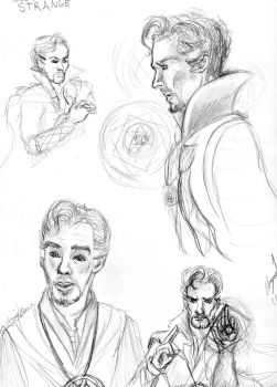 Doctor Strange Sketches by Tiger-Tomboy14