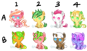 Fruity Foal Adopts SET PRICE [closed] by TanukiAdopts