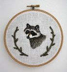 Raccoon Embroidery by Groovygirlsuzy17