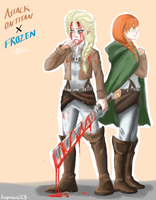 AOT/Frozen AU by DragonClaws123
