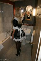 French Maid cleaning third hotel room 2 by Hoehnke
