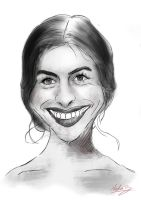 Anne Hathaway Sketch by NineTrails