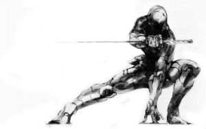 gray fox by AUTphoenix