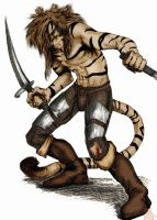 homme tigre colored by Ilan by Griffon-Nage