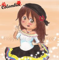 APH OC: Chibi Colombia by FlopyLopez