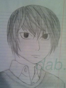 Notebook Sketch: Light Yagami by AWildDaniAppeared