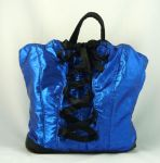 Metallic Blue Corset Purse by DeadBackpacks