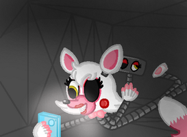 Mangle's Airvent selfie by TheWingedSkeleton